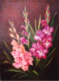 Gladioluses. Picture
