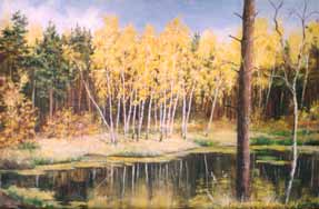 Alenka lake. Painting