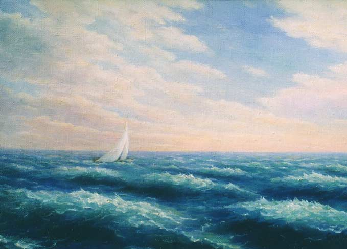 The boat. Painting