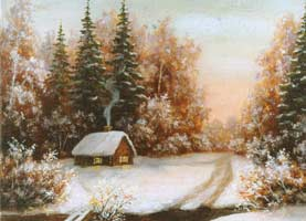 Red Winter. Painting